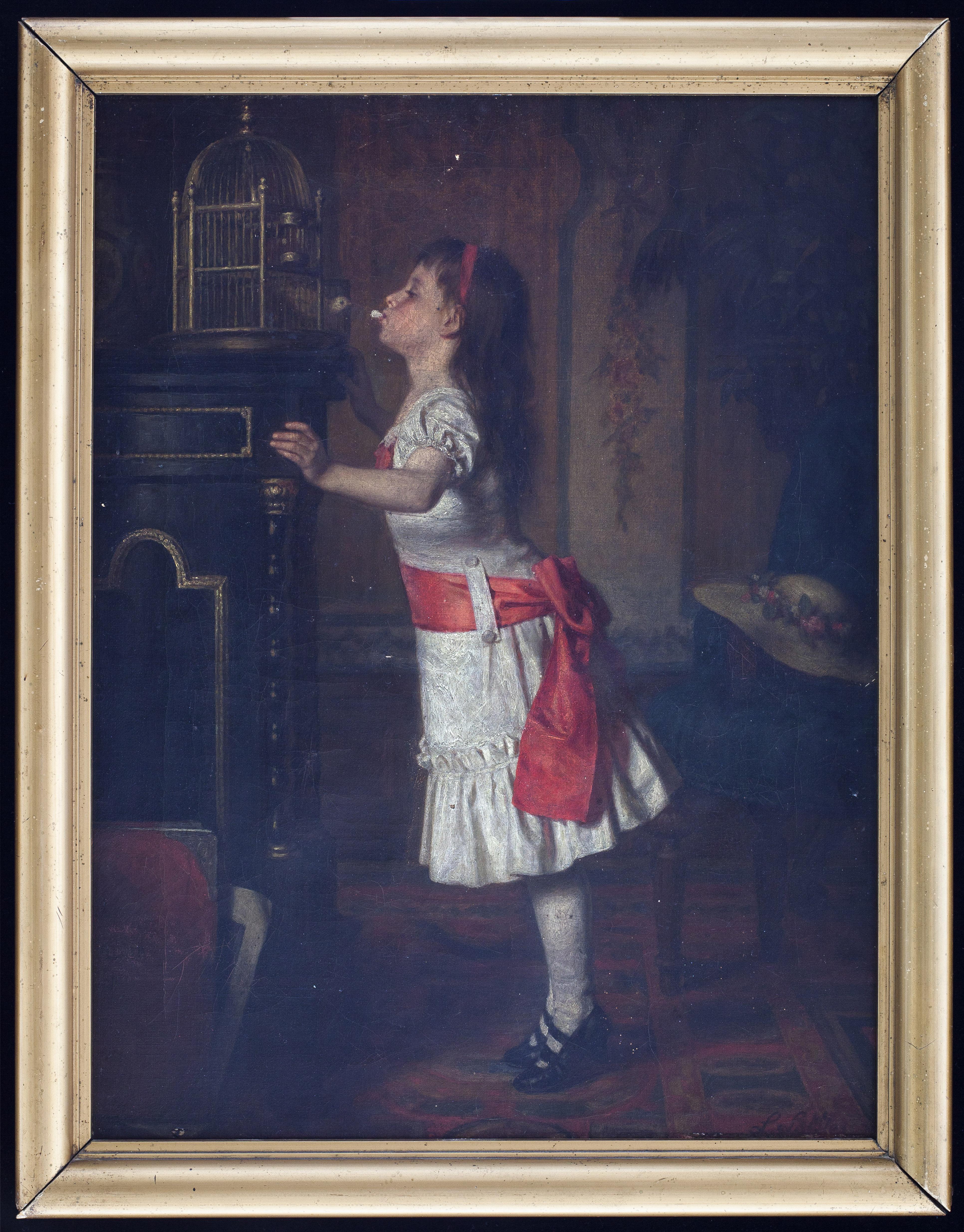 Leopold Löffler, Dziewczynka zkanarkiem