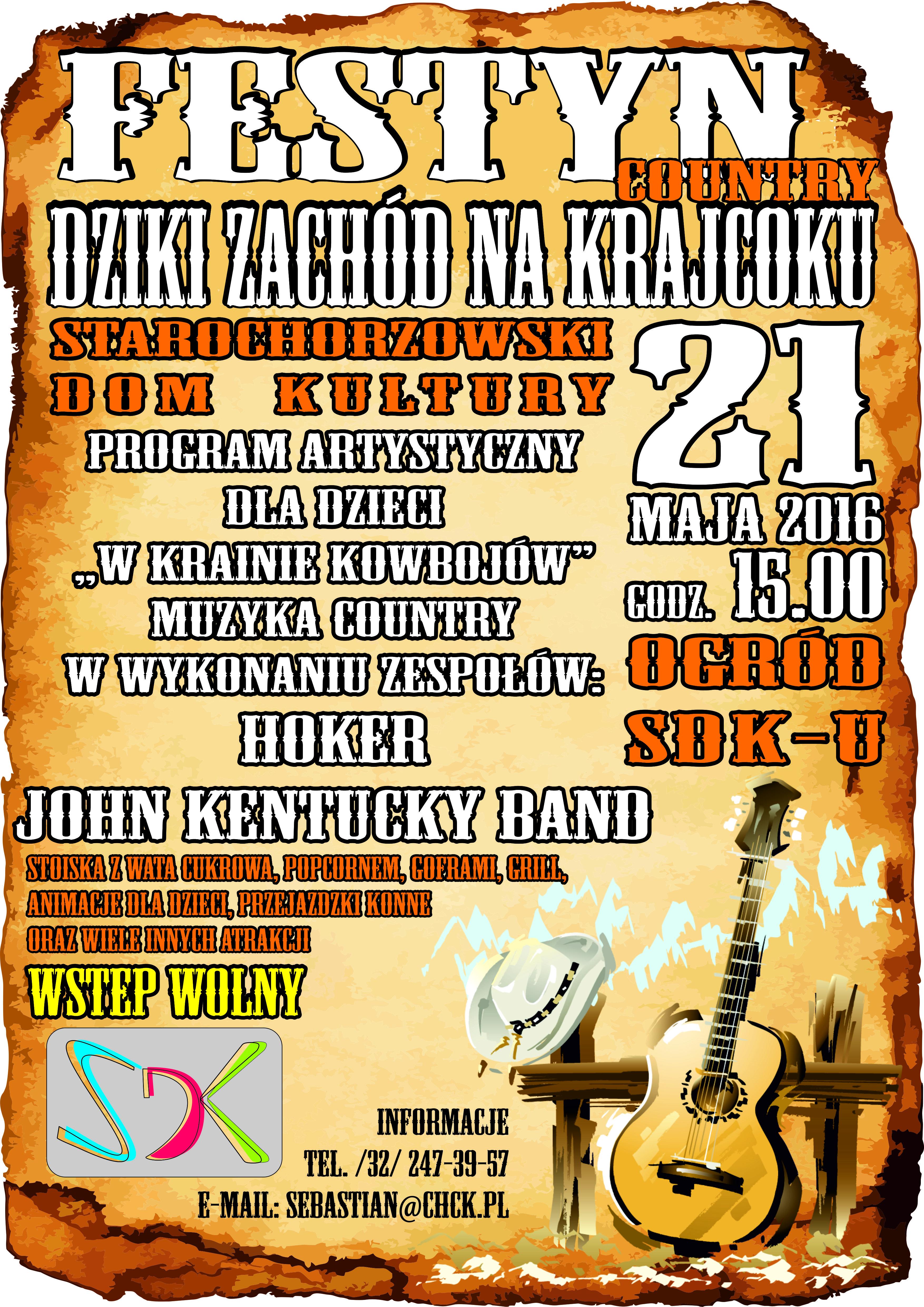 plakat festyn country