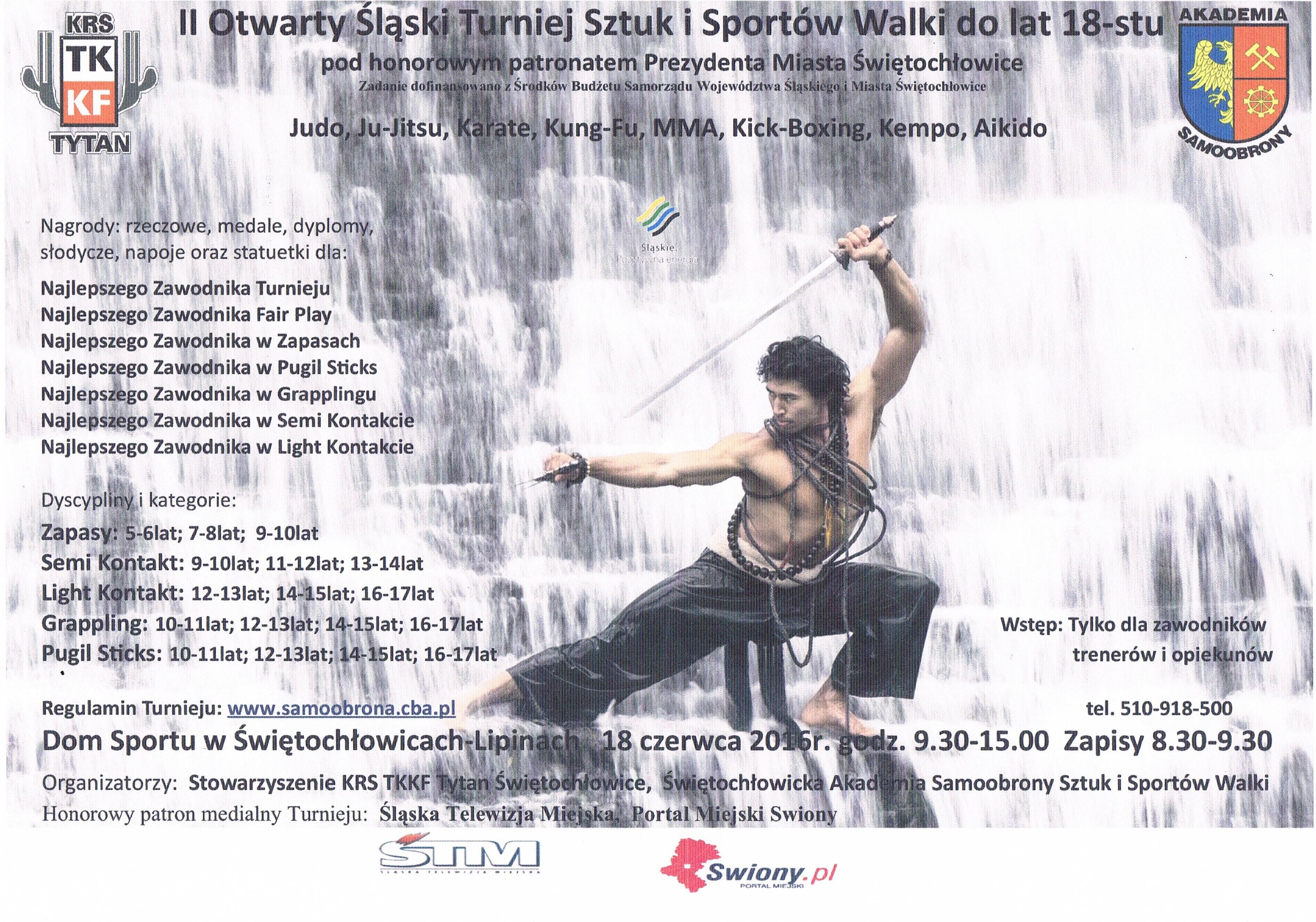 Plakat naII ┼Ül─ůski Otwarty Turniej SziSW.